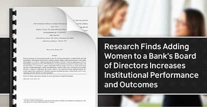 Research Shows Positive Effects Of Gender Diversity In Bank Boards