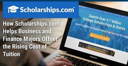 How Scholarships.com Helps Business and Finance Majors Offset the Rising Cost of Tuition