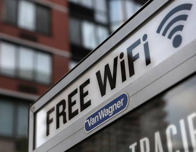 A Photo of a Free Wi-Fi Sign