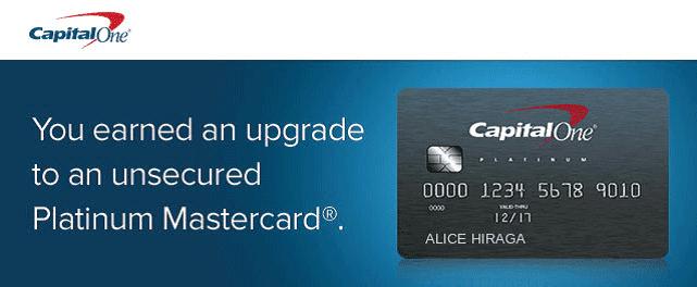 Screenshot of Capital One Secured Card Upgrade