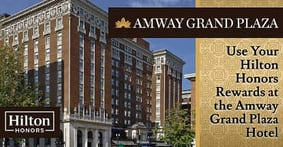 How to Cash in Your Hilton Honors AMEX Rewards for a Stay at the Historic Amway Grand Plaza Hotel in Grand Rapids, Michigan