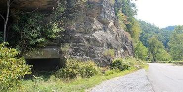 Photo of abandoned mine in Haysi, Virginia