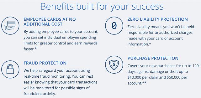 Screenshot of Ink Business Cash Credit Card Benefits