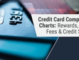 4 Credit Card Comparison Charts for Rewards, Fees, Rates & Scores