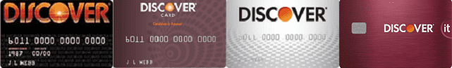 Collage of Discover Cards Over the Years