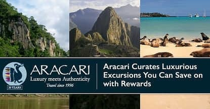 Use Travel Rewards to Take Advantage of Aracari's Luxurious Behind-the-Scenes Access to Peru, Bolivia, and the Galapagos