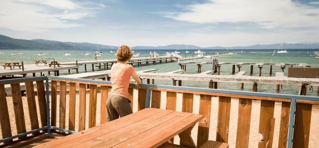 Photo of a woman on the marina deck