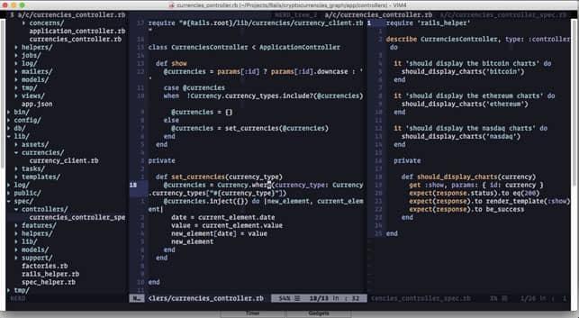 A Vim Screenshot