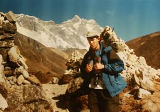 Photo of Dave in Nepal, 1996