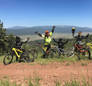 Bikers at Angel Fire Resort Bike Park