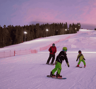 Photo of Snowboarders at Angel Fire Resort