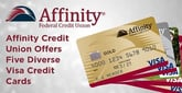 Affinity Credit Union Offers Five Diverse Credit Card Offerings to Meet Each of Its Members' Needs