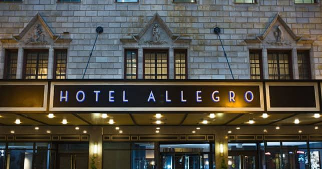A Photo of the Exterior of Hotel Allegro in Chicago