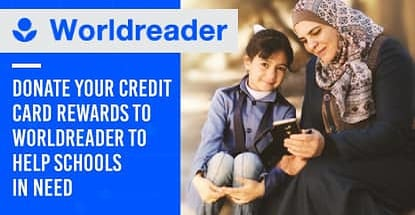 Donate Your Credit Card Rewards To Worldreader To Help Schools In Need