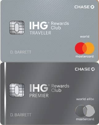 A Picture of the Two IHG and Chase Co-Branded Credit Cards