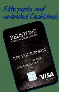 A Photo of Redstone Credit Union's Visa Signature Credit Card