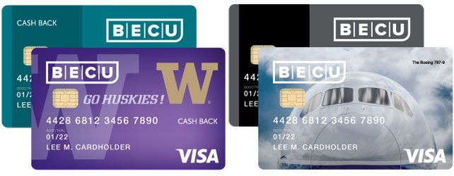 Photo of BECU credit cards