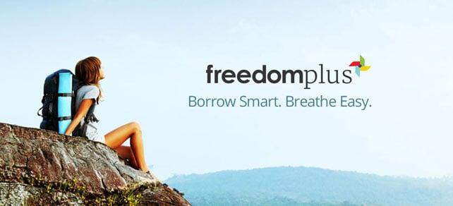Screenshot of a FreedomPlus advertisement