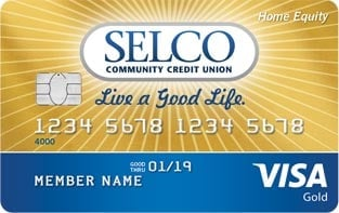Photo of the SELCO Home Equity card