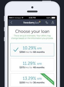 Screenshot of the FreedomPlus app