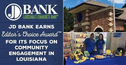 Jd Bank Recognized For Improving Louisiana Communities