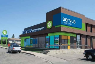 Photo of a Servus Credit Union branch