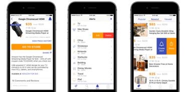Screenshots of Ben's Bargains mobile app