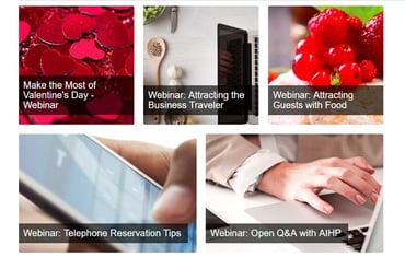 Screenshot of BedandBreakfast.com webinars