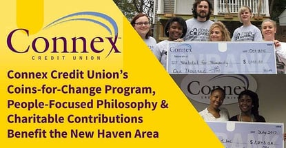 Connex Credit Unions Coins For Change Benefits New Haven