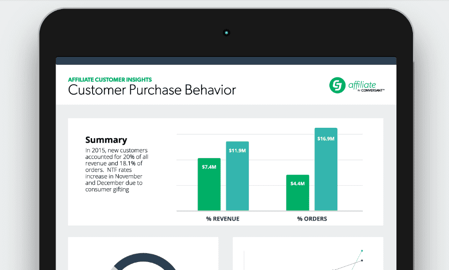 CJ Affiliate by Conversant analytics dashboard