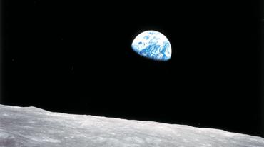 Earthrise photo taken by an astronaut in 1968