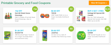 Screenshot of Grocery Coupon Network coupon gallery