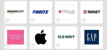 A screenshot of Goodshop merchants