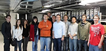 Photo of InMotion team members at the Los Angeles datacenter