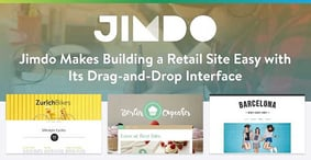 Jimdo Makes Building an E-Commerce Website Easy with Its Drag-and-Drop Interface and Focus on Customer Support