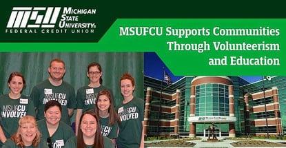 Msufcu Supports Member Communities Through Volunteerism