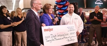 Photo of Meijer charitable donation