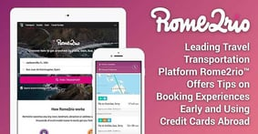 Leading Travel Transportation Platform Rome2rio™ Offers Tips on Booking Experiences Early and Using Credit Cards Abroad