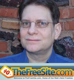 Portrait of Marc McDonald and Logo for TheFreeSite.com