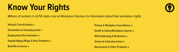 Screenshot of Workplace Fairness Bill of Rights