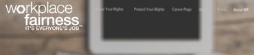 Screenshot of Workplace Fairness website