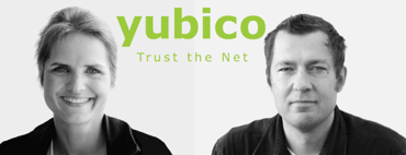 Photo of Yubico Founders Stina and Jakob Ehrensvärd