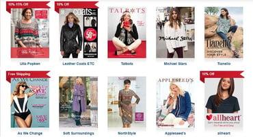Screenshot of Catalogs.com catalogs