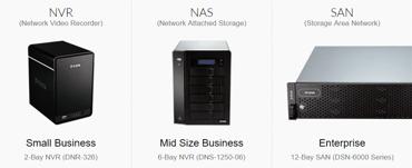Screenshot of D-Link storage options