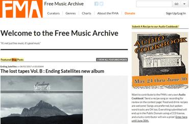 Screenshot of the FMA Homepage