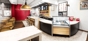 Photo of a redesigned Häagen-Dazs retail store