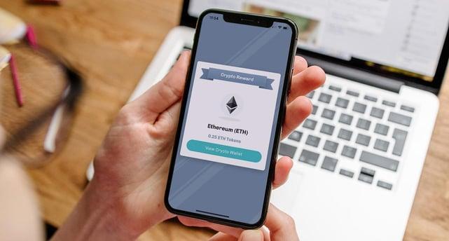Screenshot of Crypto Rewards on mobile app