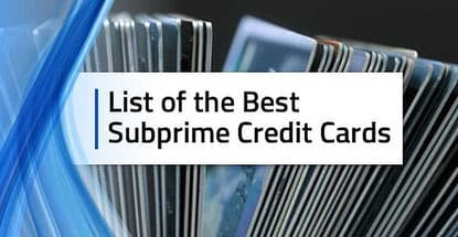 List Of Subprime Credit Cards