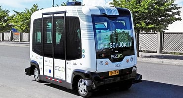 Photo of a self-driving bus