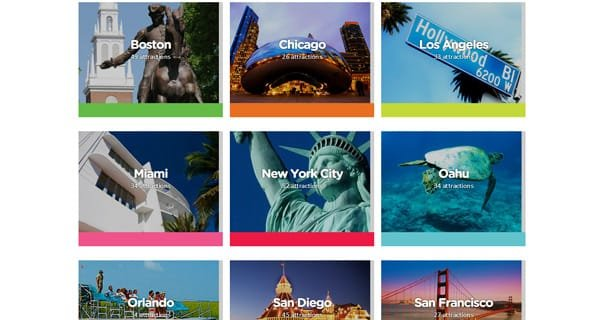 Go City Cards' popular tourist destinations